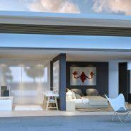 Los Flamingos Golf Villa modern_Master bathroom_Realista Quality Properties Marbella