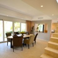 Contemporary 6 bedroom front line golf villa Los Naranjos Golf_Seperate dining area_Realista Quality Properties Marbella