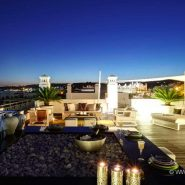 Doncell Beach Estepona_5 bedroom duplex penthouse_terrace by night_Realista Quality Properties Marbella