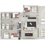 للبيع شقة جديدة مكونة من 4 غرف نوم قيد الإنشاء في منشأة لو ميراج استيبونا