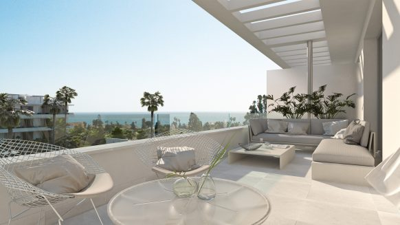 Belaire New modern project Estepona_covererd terrace_Realista Quality Properties Marbella