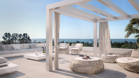 Belaire New modern project Estepona_Terrace_Realista Quality Properties Marbella