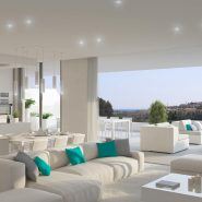 Cataleya off plan apartments for sale Estepona_Living room to terrace_Realista Quality Properties Marbella