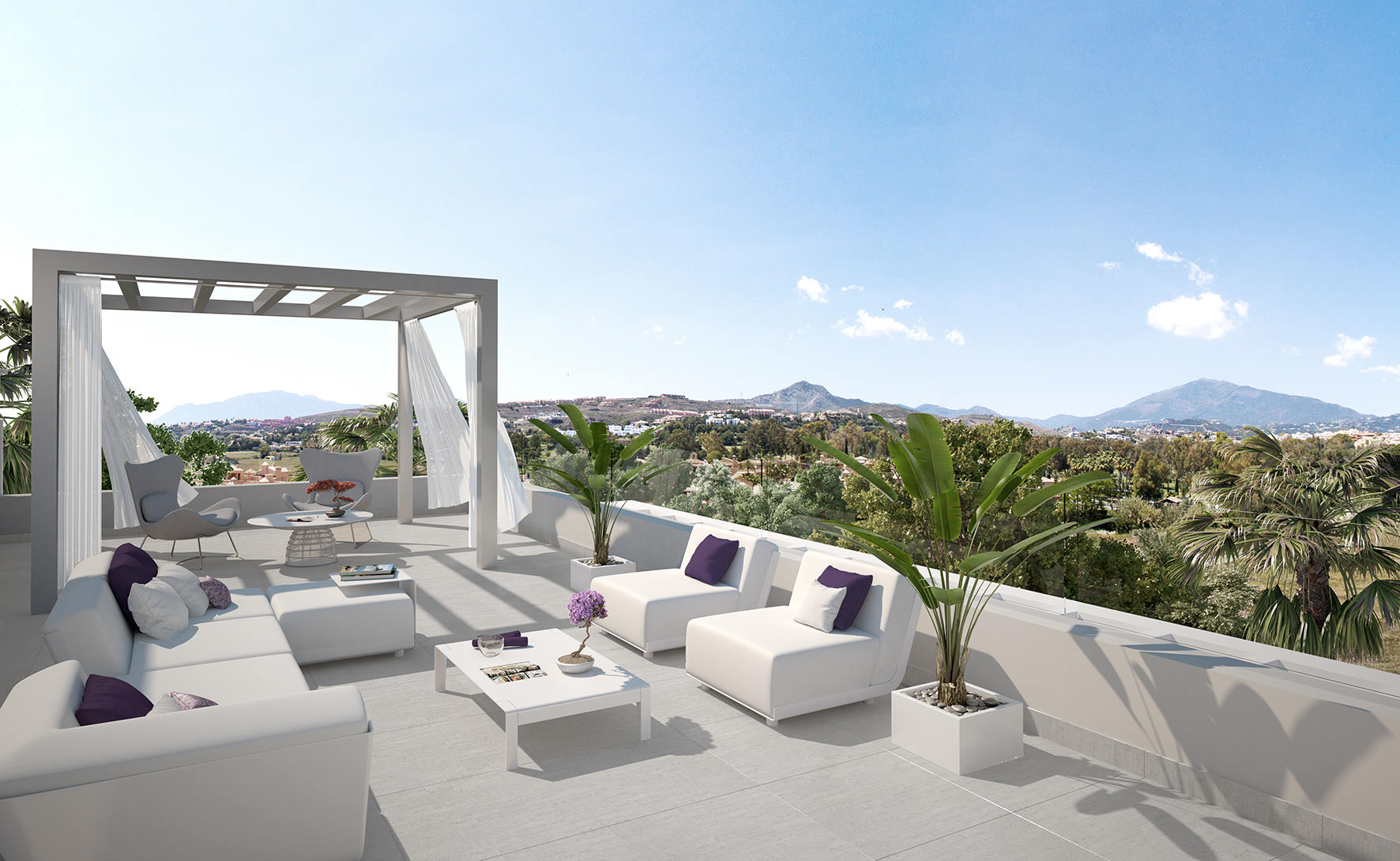 New modern luxury penthouse with large terrace in cataleya for Design terrazza