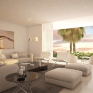 La Finca Town house for sale_Living room opening to terrace_Realista Quality Properties Marbella