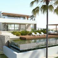 Los Flamingos Golf Villa modern_South Facade_Realista Quality Properties Marbella