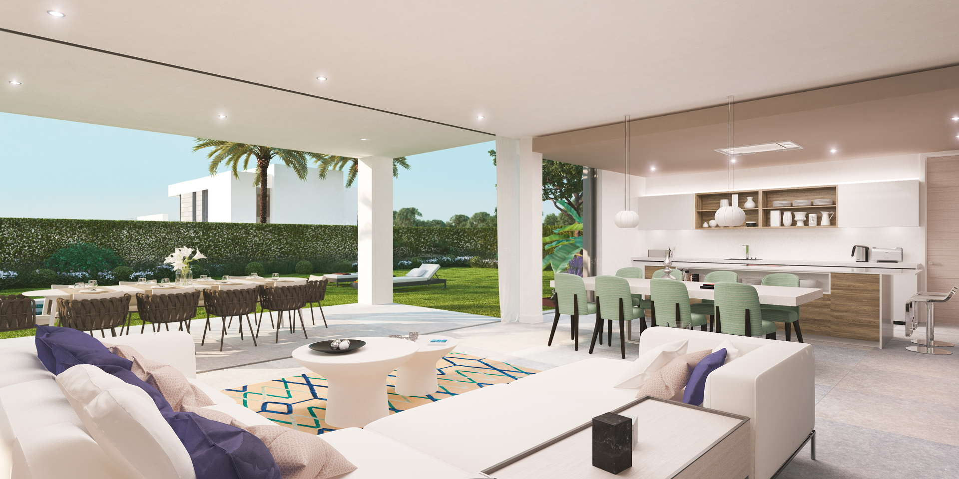 New modern villa with private pool and panoramic views of - Ambience home design marbella ...