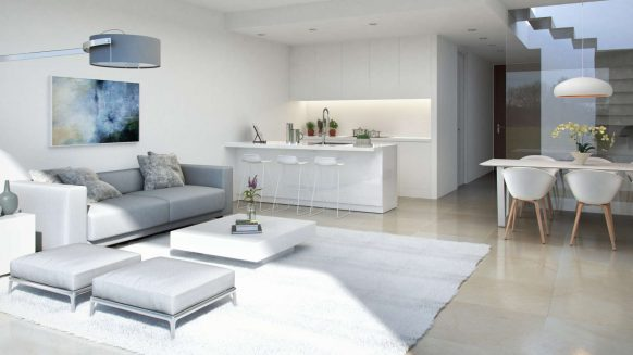 La Valvega_Living room with open kitchen_Realista Quality Properties Marbella