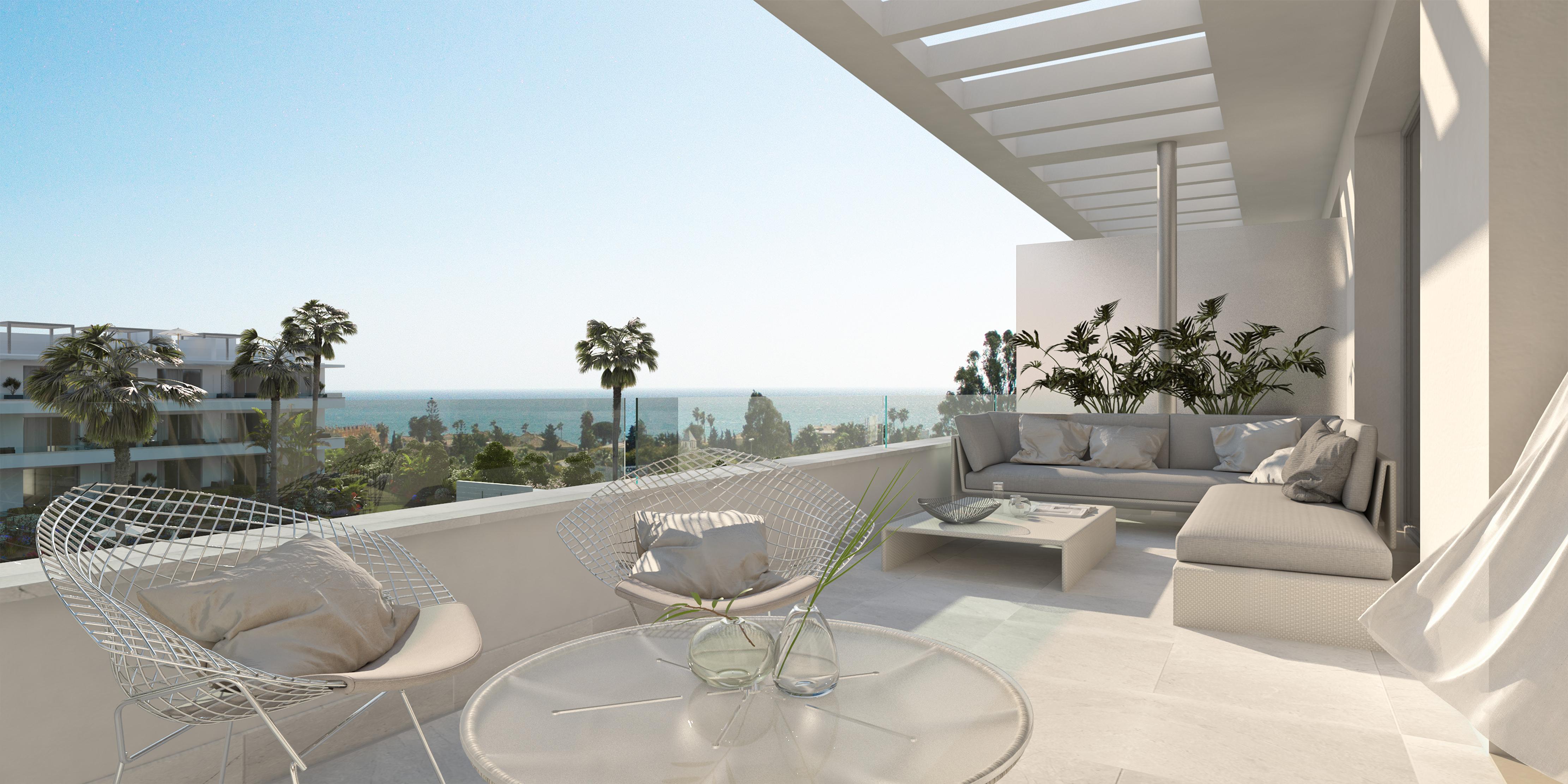 Nieuwe 3 slaapkamer appartement Belaire Estepona Marbella
