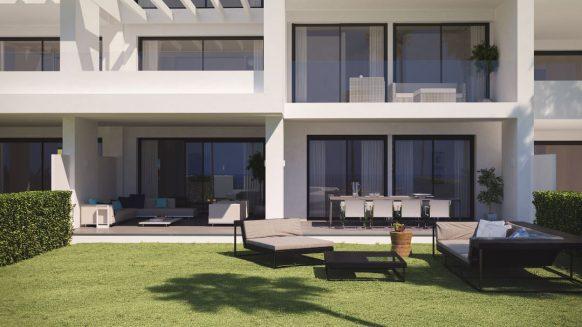 Las Terrazas de Atalaya_begane grond tuin_ Realista Quality Properties Marbella