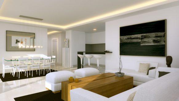 Atalaya Hills nieuw frontlinie golf appartement met uitzicht op zee, golfbanen en het meer, Benahavis
