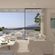 Cataleya off plan apartments for sale Estepona_open plan living room_Realista Quality Properties Marbella
