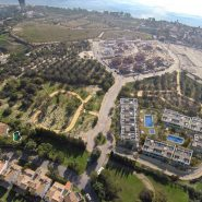 La Finca Town house for sale_Bird view towards the sea_Realista Quality Properties Marbella