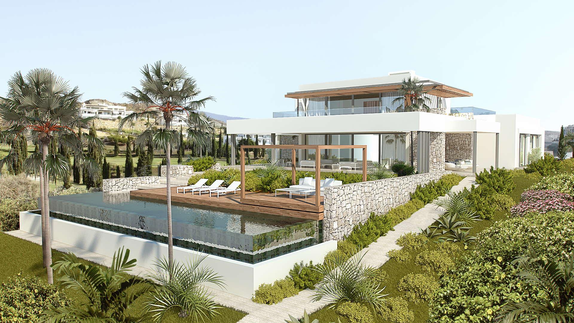 Moderne moderne Los Flamingos Golf villa in aanbouw
