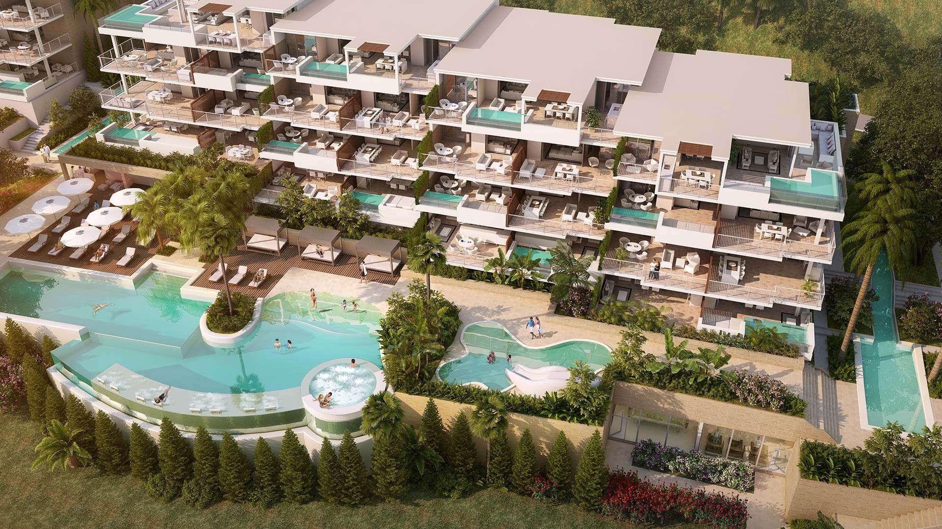 New development Cala de Mijas luxury three bedroom apartment Lotus Jardinana