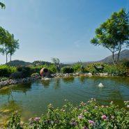 Luxury and private villa with sea views for sale in La Zagaleta Golf & Country Club_Private lake_Realista Quality Properties Marbella