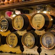 Malaga sherry barrels