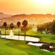 Contemporary 6 bedroom front line golf villa Los Naranjos Golf_View to the Golf evening_Realista Quality Properties Marbella