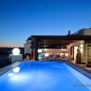 Doncell Beach Estepona_5 bedroom duplex penthouse_swimming pool by night_Realista Quality Properties Marbella