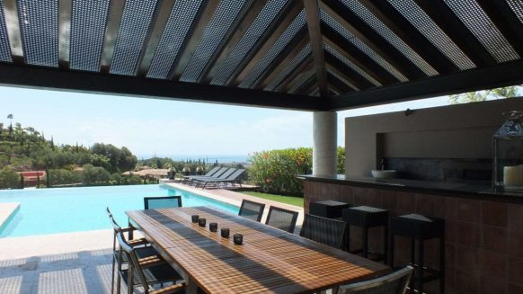 For Sale Modern 5 bedroom Villa Los Flamingos Golf Resort_BBQ and Terrace I_Realista Quality Properties Marbella