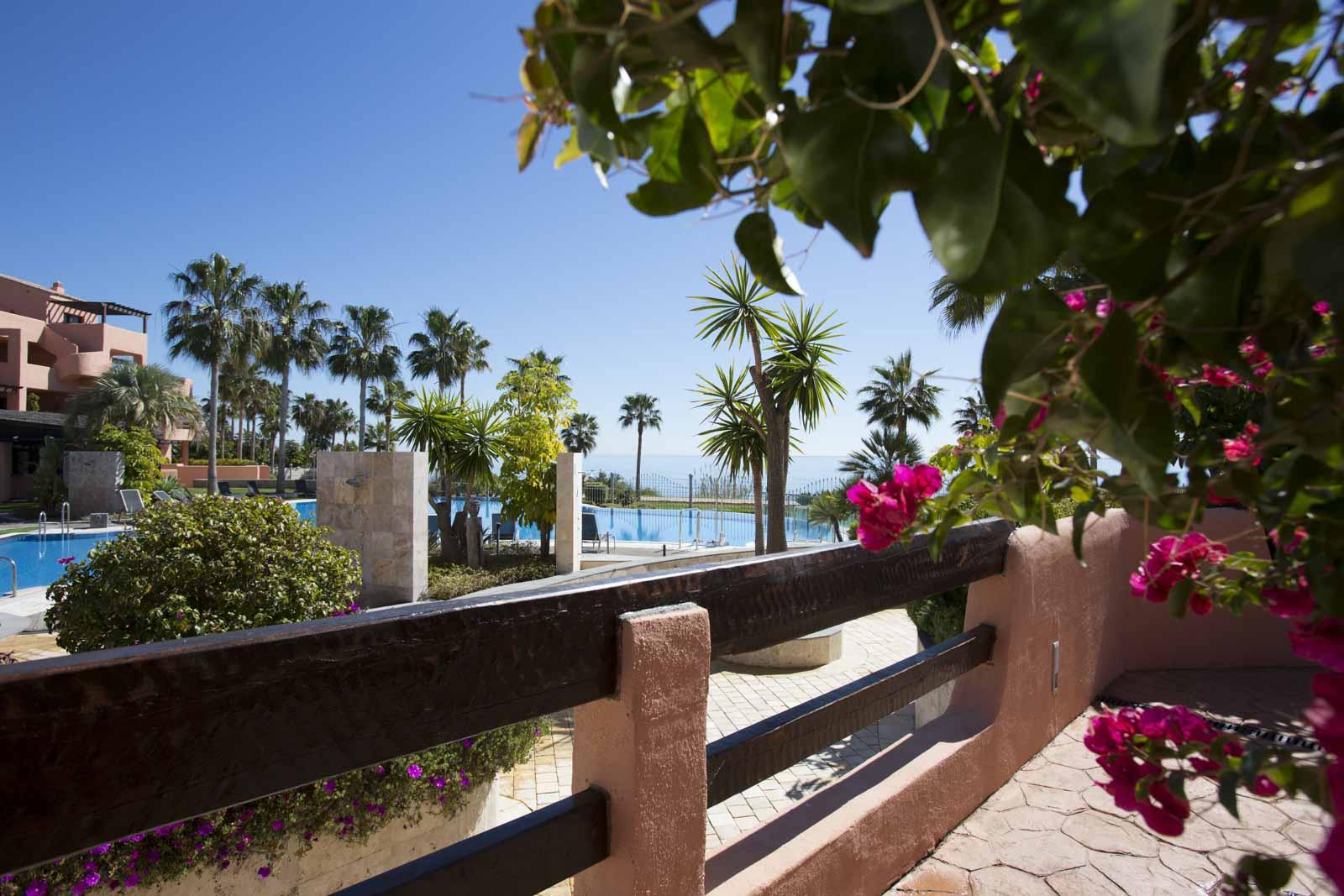 Modern 2 bedroom apartment for sale front line beach Mar Azul Estepona