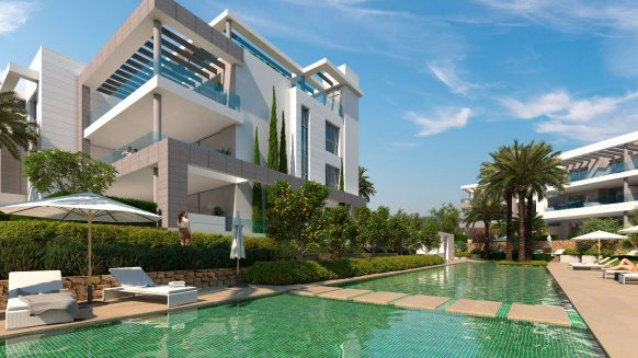 The Residences_new development Cancelada Estepona_Communal swimming pool_Realista Quality Properties Marbella