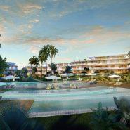 The Edge Estepona_Eerstelijns zee nieuwbouwproject_swimming pool at night_Realista Quality Properties Marbella