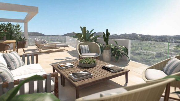 Jardines de Las Lagunas 3 slaapkamer penthouse Mijas Fuengirola te koop
