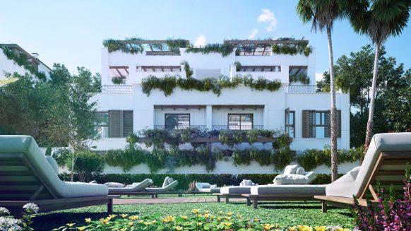 Nieuw Twee slaapkamer Duplex Penthouse met prive zwembad aan de Golden Mile Marbella op loopafstand van het Puente Romano Hotel
