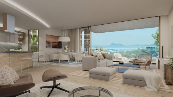 Luxe appartement in Los Olivos Real de La Quinta Resort duurzaam gebouwd met groot terras en omgeven met vele (sport)faciliteiten