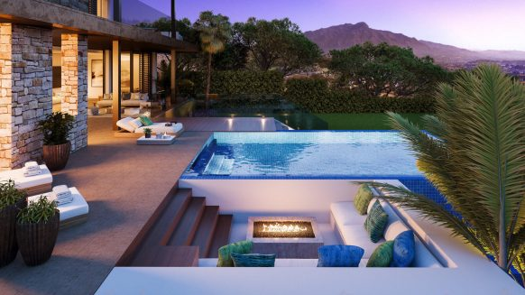 Be LAGOM Sustainable Villa met zeezicht in omgeven door bossen in Atalaya Benahavis