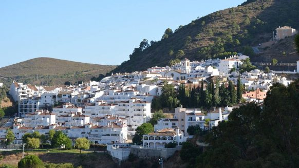 Benahavis white mountain village