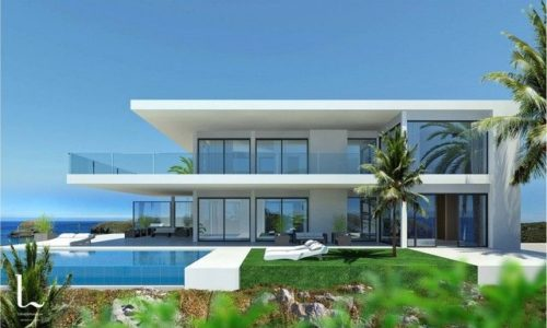 newly built villa modern luxury homes infinity pool