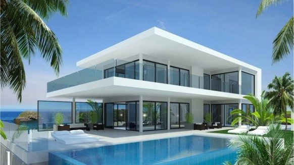 Newly Built Villa Modern Luxury Homes Pool