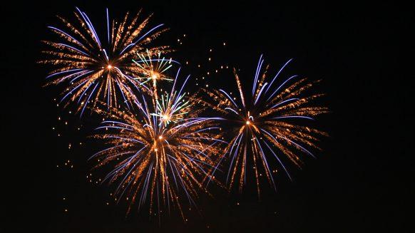 Fireworks new year in marbella