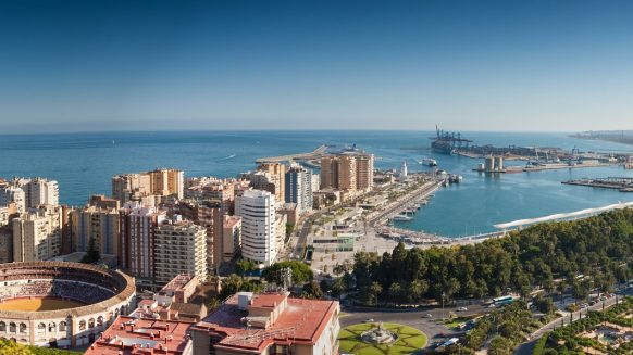 Malaga view to the port
