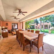 Country style villa beachside guadalmina san pedro marbella_Terrace with Fire Place_Realista Quality Properties Marbella