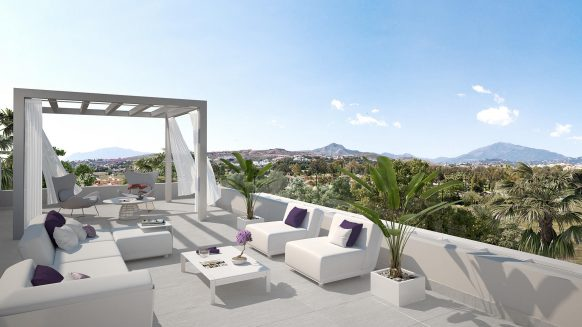 Cataleya off plan apartments for sale Estepona_Roof terrace Penthouse _Realista Quality Properties Marbella