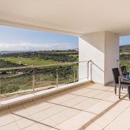 Las Terrazas de Cortesin_ Covererd Terrace with golf and sea view_Realista Quality Properties Marbella