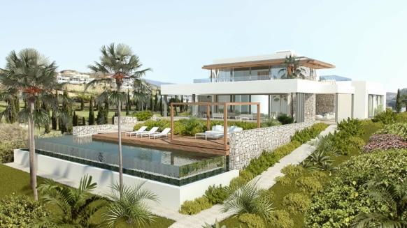 Los Flamingos Golf Villa modern_South east facade_Realista Quality Properties Marbella