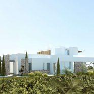 Los Flamingos Golf Villa modern_West facade_Realista Quality Properties Marbella