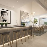The Island Estepona_Kitchen with bar_ Realista Quality Properties Marbella