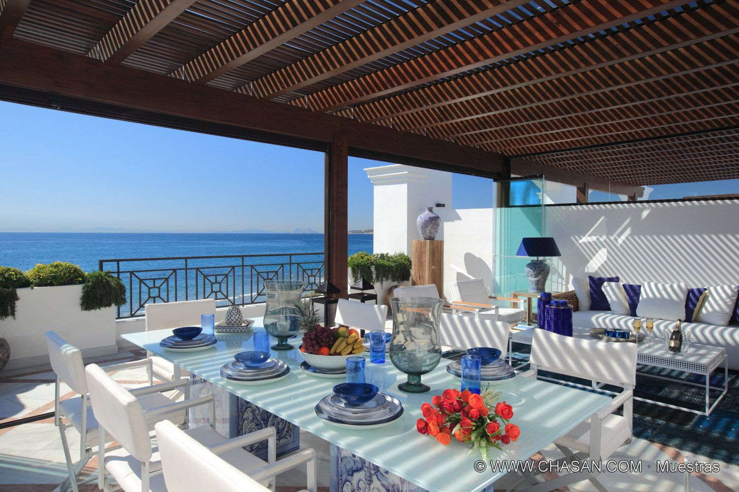 Exclusive and luxury new front line beach 5 bedroom duplex penthouse with panoramic views in Estepona