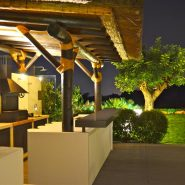 Modern design villa for sale in Capanes del Sur Benahavis_evening dining_Realista Quality Properties Marbella