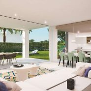 SyZyGy Homes The Villas_modern villas New Golden Mile_open plan living area_Realista Quality Properties Marbella