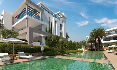 The Residences_new development Cancelada Estepona_Communal swimming pool_Realista Quality Properties Marbella