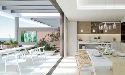 The Residences_new development Cancelada Estepona_Open plan kitchen_Realista Quality Properties Marbella
