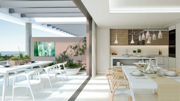 The Residences_new development Cancelada Estepona_Open plan kitchen_Realista Quality Properties Marbella