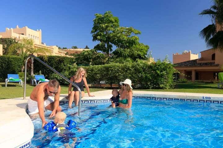 Fully furnished apartment in Santa Maria Village first line Golf development in Elviria east Marbella