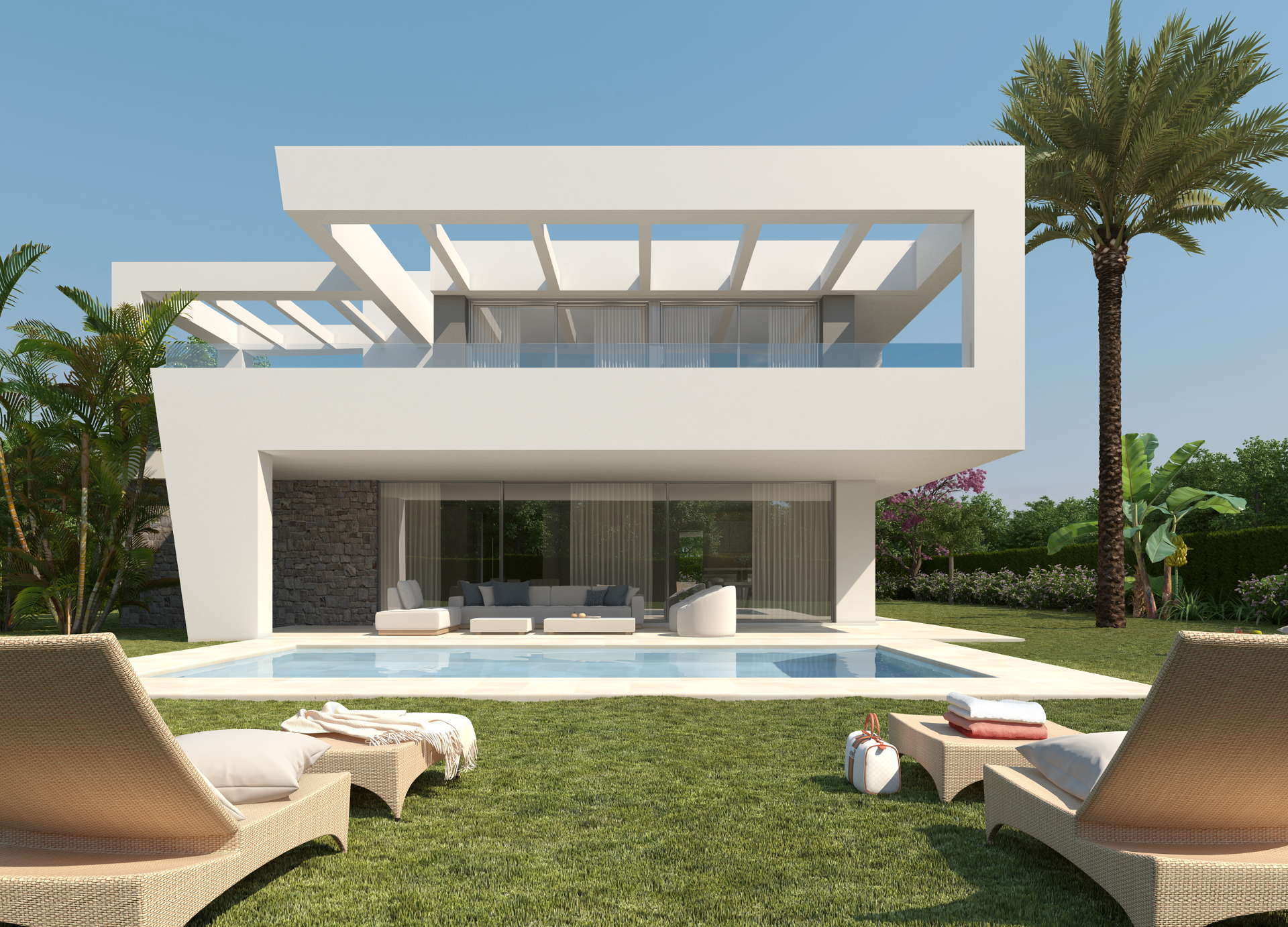 modern contemporary 4 bedroom villa in la finca de marbella rio real golf realista. Black Bedroom Furniture Sets. Home Design Ideas